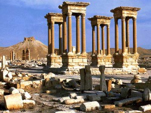 Palmyra in Syria -Ancient ruins tourism destinations
